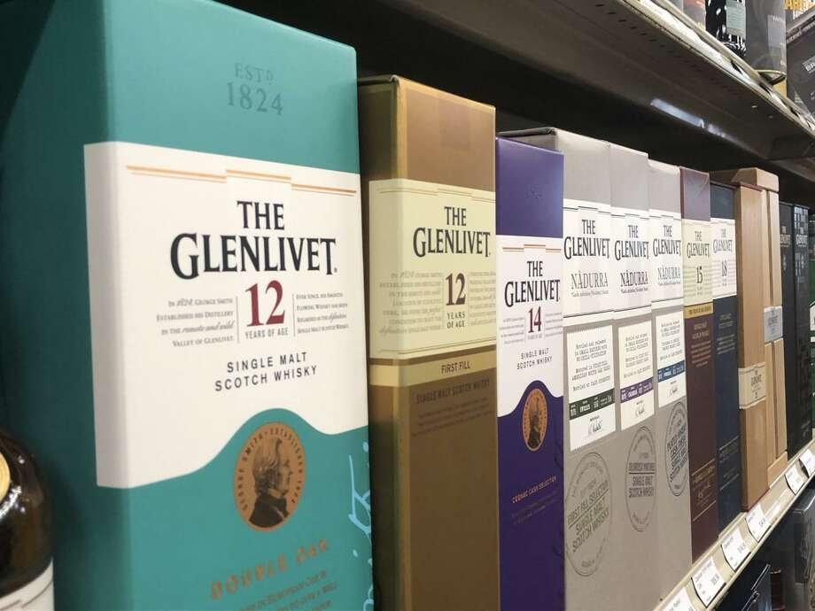 Scotch whiskey like Glenlivet will be taxed along with French wines and other European goods as a part of a 25% tariff taking effect on Oct. 18. Photo: Jacob Dick / The Enterprise