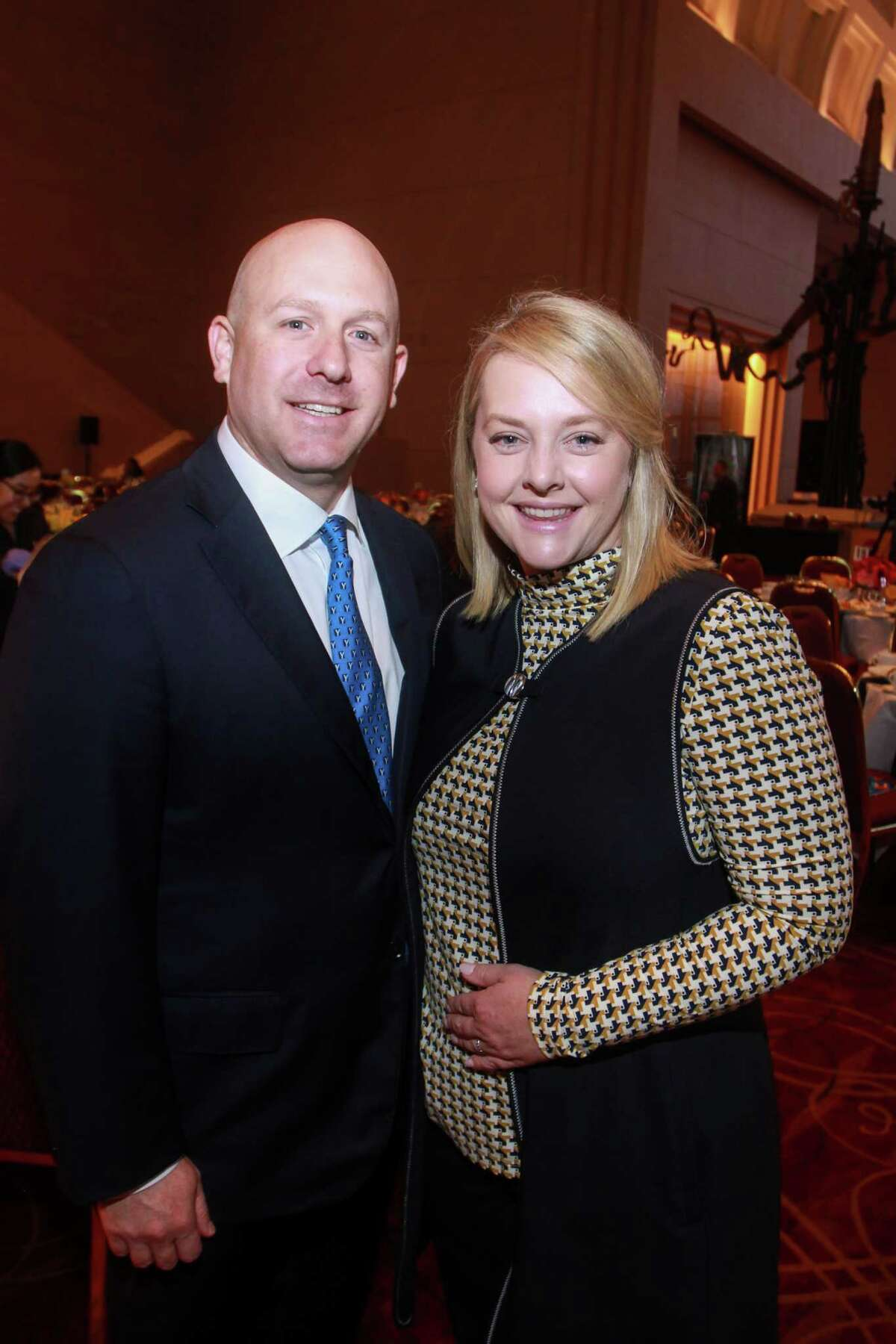 Chairs Jordan and Emily Marye at the YES Prep Leading Houston Forward Luncheon at the Wortham Theater on October 16, 2019.