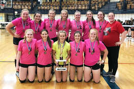 The Bad Axe varsity volleyball team took first place at the Mt. Morris tournament this past weekend.