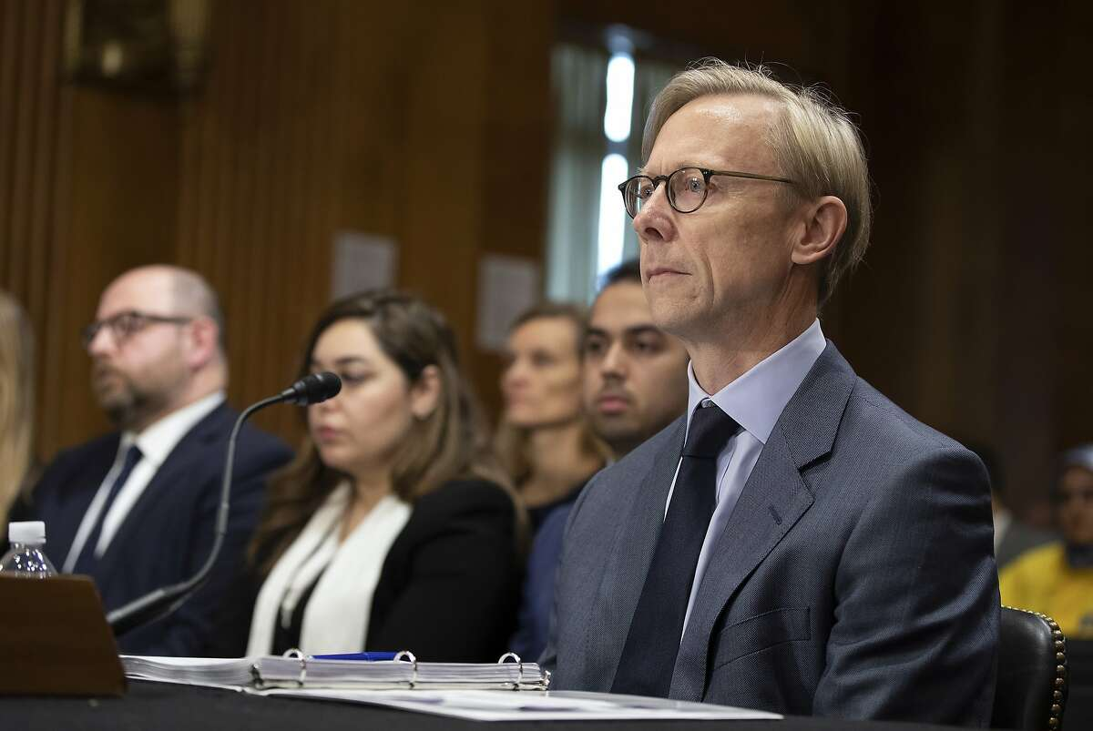Brian Hook State department Special Representative for Iran testifies during the Senate Foreign Relations Committee Holds Hearing On US-Iran Policy on October 16, 2019 in Washington, DC. (Photo by Tasos Katopodis/Getty Images)
