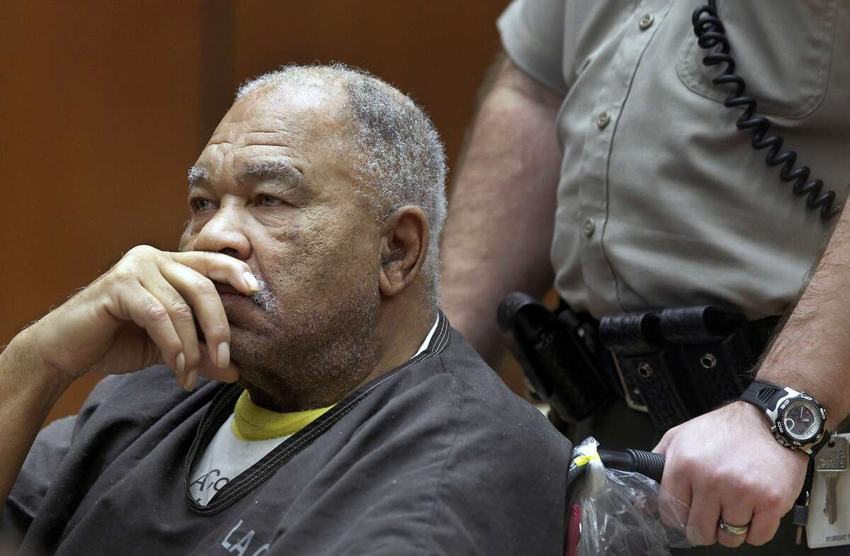 FILE - In this March 4, 2013, file photo, Samuel Little appears at Superior Court in Los Angeles. Little, pronounced the most prolific serial killer in U.S. history, confessed his crimes to homicide detectives well-briefed on how to keep him talking and get the information they needed. (AP Photo/Damian Dovarganes, File)