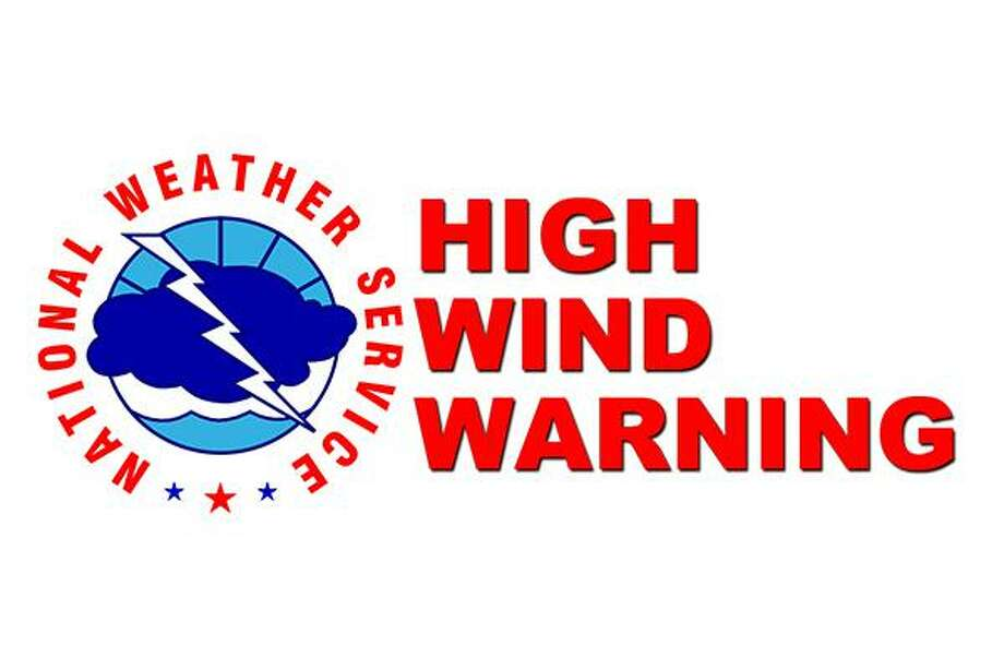 The National Weather Service has issued a high wind warning, in effect following last night's storm. Photo: National Weather Service