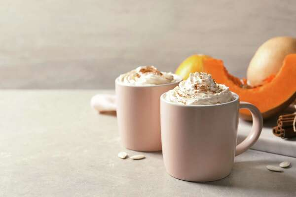 Cups with tasty pumpkin spice latte. (Dreamstime/TNS)