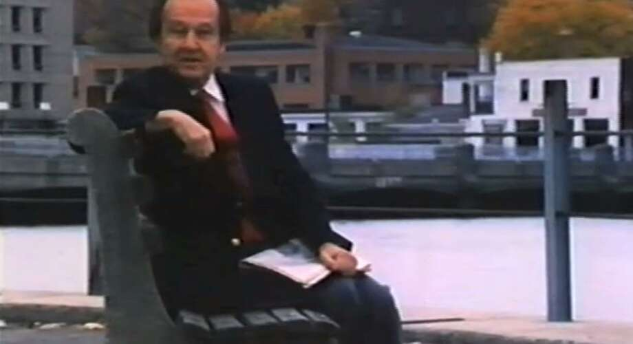 "Sportscaster Jim McKay in the opening scene from the 1985 documentary ""The Wonderful World of Westport."" Photo: Screenshot /"