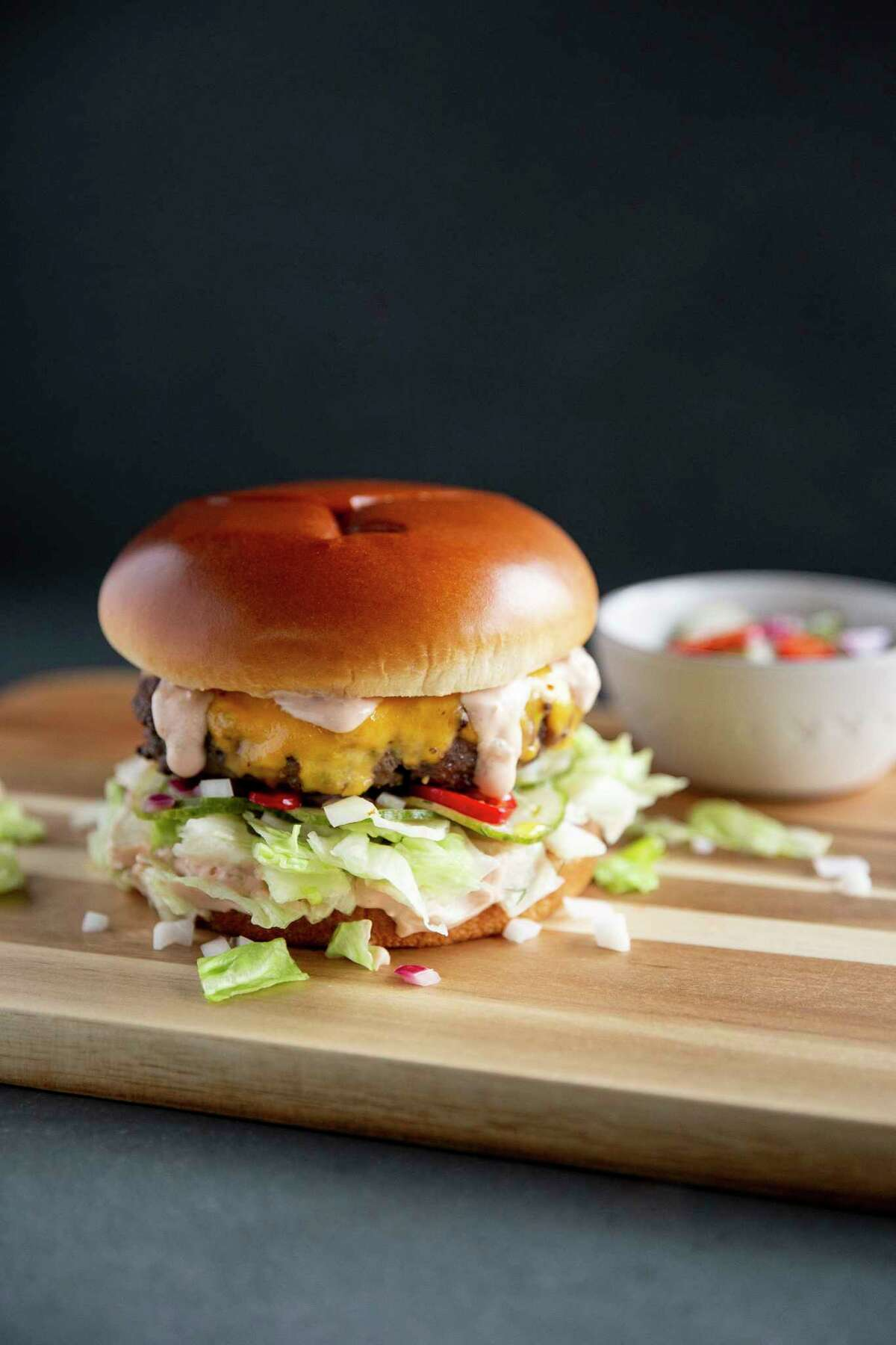 BigSmac Cheeseburgerfrom Rachael Ray's collaboration with Uber Eats.