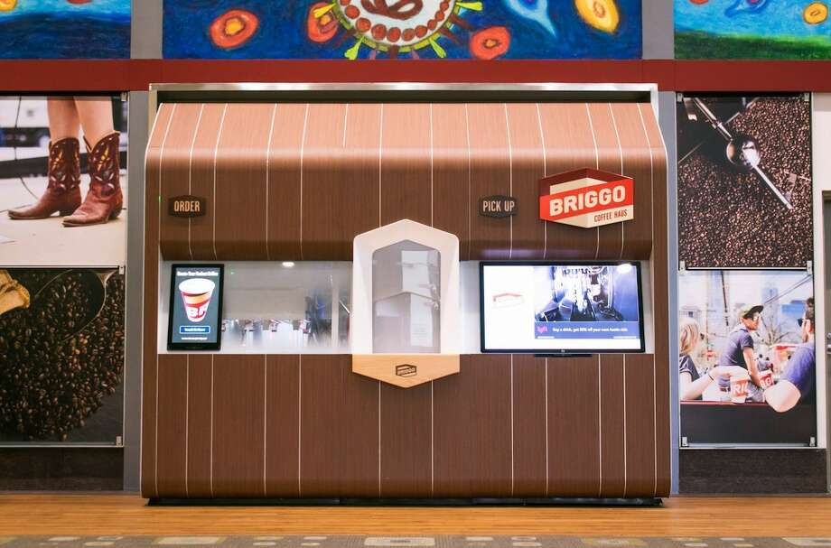 Austin-based Briggo plans to open an automated coffee kiosk in the Whole Foods Market opening next month in midtown Houston. Photo: Briggo /