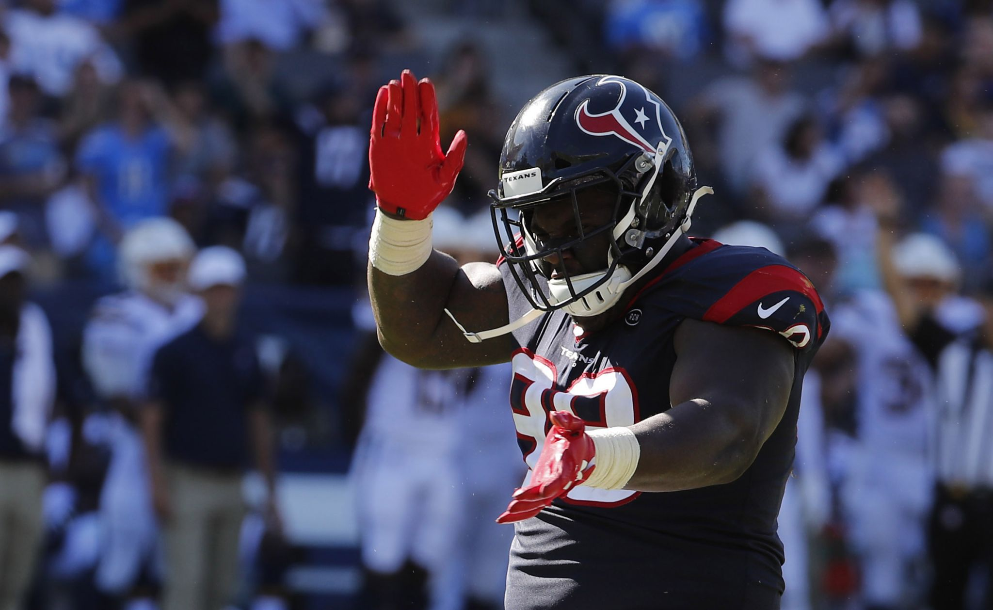 Less cheat meals, more cardio for Texans' D.J. Reader