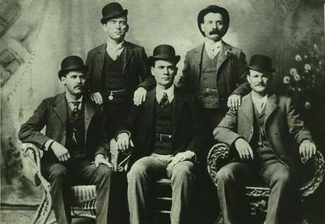 The Swartz brothers' most famous photograph, shot by John Swartz, is this 1900 portrait of the Wild Bunch, inclding Butch Cassidy (front right) and the Sundance Kid (front left).