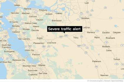 Injury crash on I-580 near Tracy prompts severe traffic alert