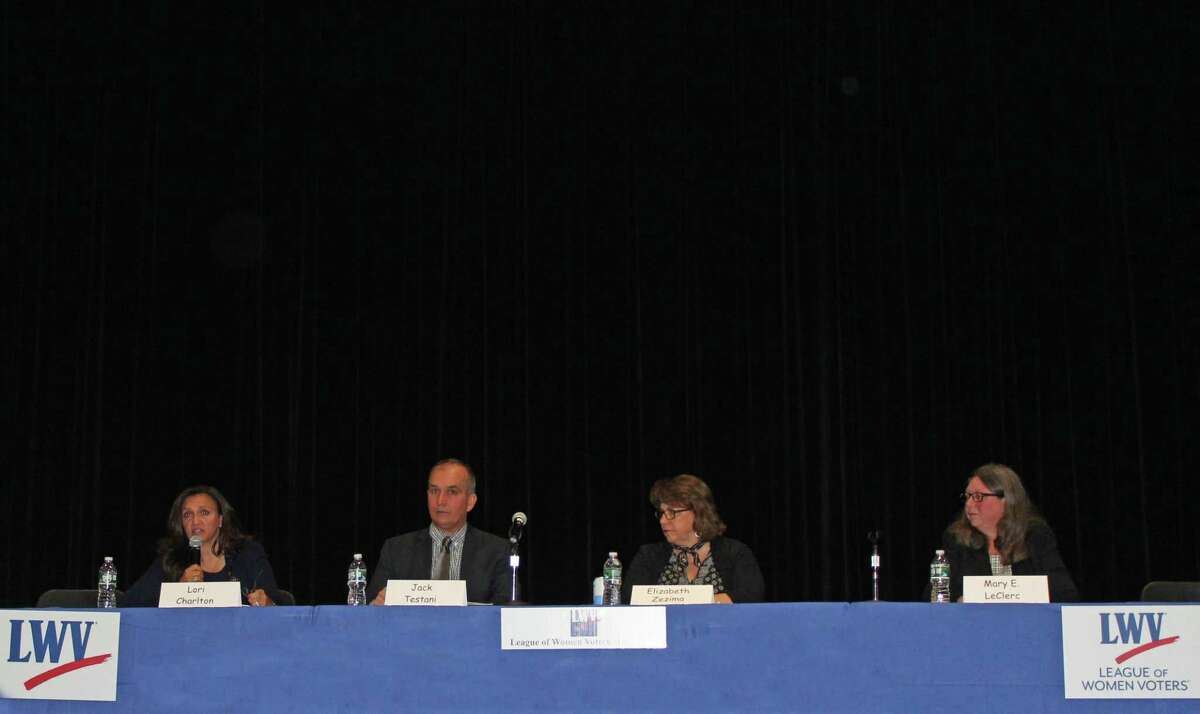 The four candidates for Board of Finance faced off at Wednesday's debate.