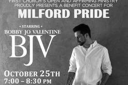 Three Milford churches have come together to sponsor a family-friendly evening of folk/pop music starring award winning singer-songwriter Bobby Jo Valentine in a benefit concert for local LGBTQ+ advocacy group, Milford Pride on Friday, Oct. 25.