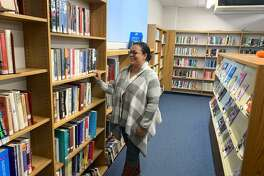 Jennifer Lester, Ansonia's library director, discusses how she would renovate the Periodical's room into a Young Adults' area.