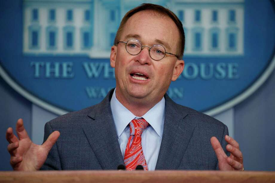 White House chief of staff Mick Mulvaney announces that the G7 will be held at Trump National Doral, Thursday, Oct. 17, 2019, in Washington. Photo: Evan Vucci, AP / Copyright 2019 The Associated Press. All rights reserved.