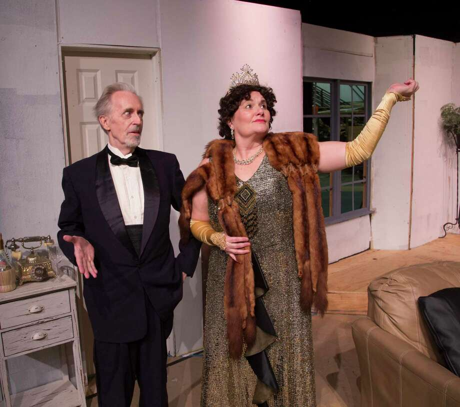 "The Players Theatre Company's ""Lend Me a Tenor"" opens at the Owen Theatre on Friday, Oct. 25, and continues through Saturday, Nov. 9. Pictured are John Kaiser as Saunders and Maria O. Sirgo as Julia. Photo: Photo By Brad Meyer"