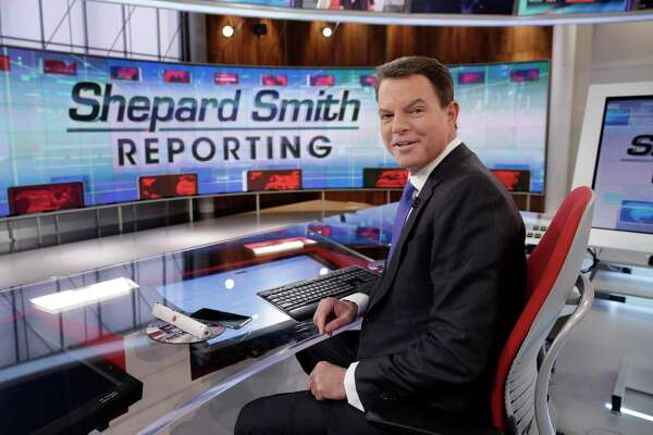 "In this 2017 file photo, Fox News Channel chief news anchor Shepard Smith appears on the set of ""Shepard Smith Reporting"" in New York. Smith, whose newscast on Fox News Channel seemed increasingly an outlier on a network dominated by supporters of President Trump, said last week he is leaving the network."