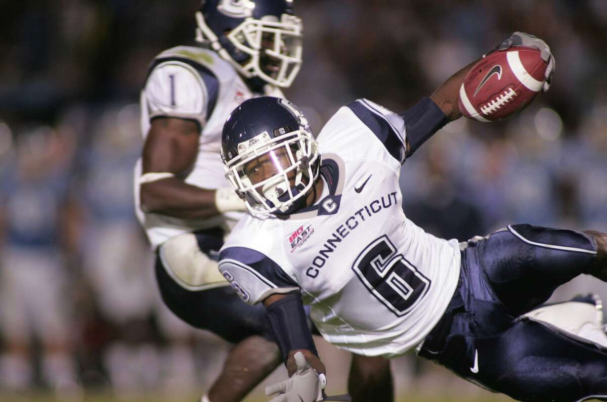 UConn's Jasper Howard in action in 2008. Howard, of Miami, died following a stabbing on the UConn campus in 2009.