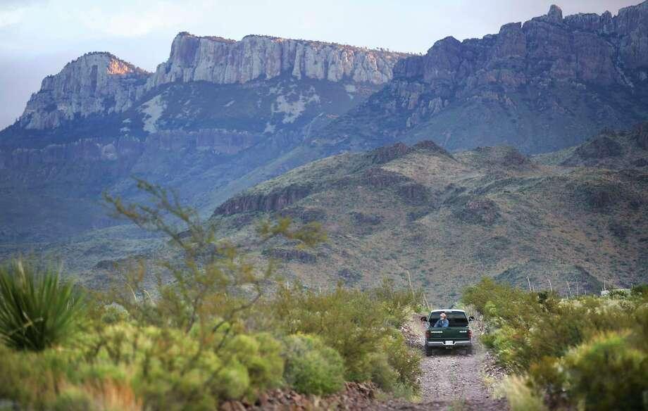 A truck takes a small tour group into the Maderas Del Carmen in Reserva Del Carmen in Coahuila, Mexico, on Oct. 9, 2019. Photo: Bob Owen, Staff Photographer / ©2019 San Antonio Express-News