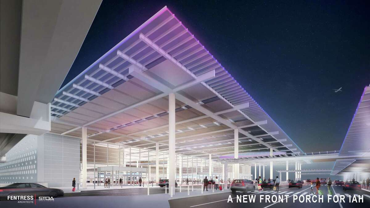 The Houston Airport System is spending $1.234 billion to redevelop its international terminal at Bush Intercontinental Airport. This rendering shows a new facility that's being built to house ticket counters, security checkpoint, baggage claim and an area for picking up friends and family at the airport.