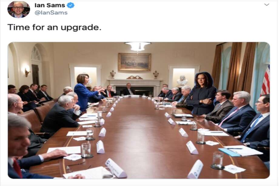 "The Kamala Harris campaign's attempted ""Time for an upgrade"" meme didn't go as intended. Photo: Twitter"