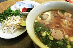 Pho with beef and meat balls at Nee's Thai & Sushi.