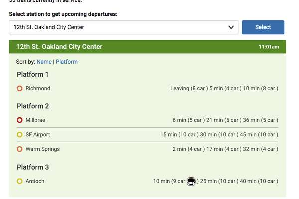 An update to the Real Time Departure feature on BART.gov site shows how riders can tell when a new BART train is on its way to their station.