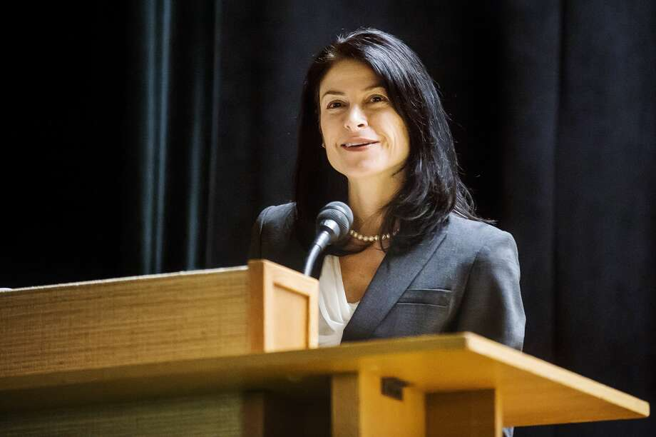 Michigan Attorney General Dana Nessel speaks about the Freedom of Information and Open Meetings acts during a public forum hosted by the Michigan Press Association and the Midland Daily News Thursday, Oct. 17, 2019 at Grace A. Dow Memorial Library. (Katy Kildee/kkildee@mdn.net) Photo: (Katy Kildee/kkildee@mdn.net)