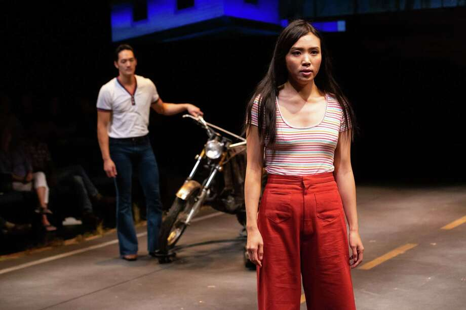 "Edward Chin-Lyn and Kim Wong in ""Vietgone,"" Alley Theatre, 2019 Photo: Lynn Lane"