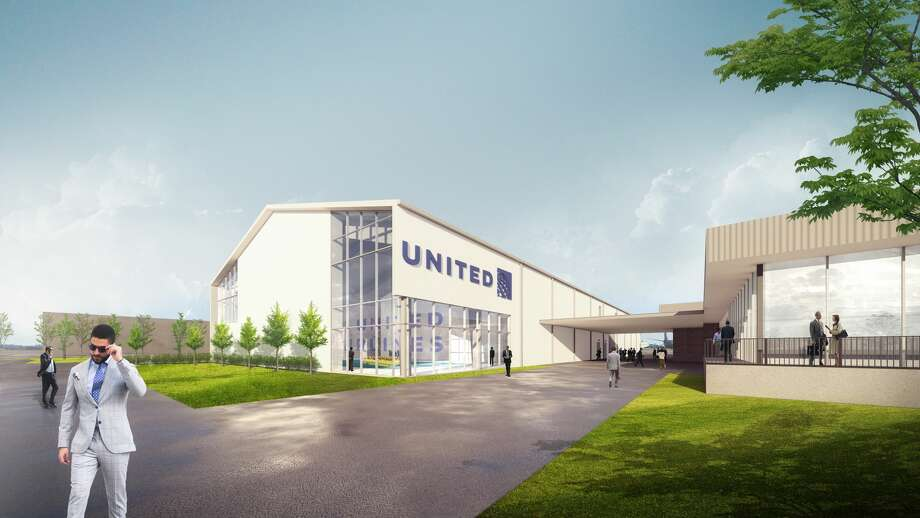 United Airlines on Thursday began a $20 million expansion of its flight attendant training facility in Houston. Pictured is a rendering of that facility. Photo: United Airlines