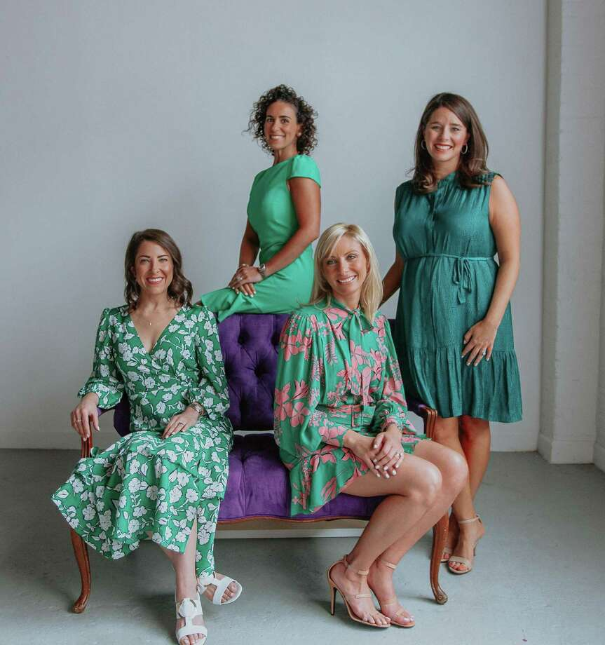 Pictured from left areEsther Freedman, Samantha Lee, Lea Radom and Laurie Pickei. Photo: Photo Courtesy OfLezu Photography