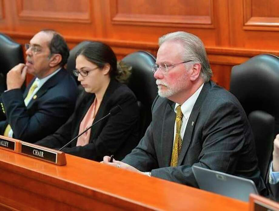State Rep. Jack O'Malley, of Lake Ann, listens to testimony during a House Transportation Committee hearing on Tuesday, Oct. 15. (Courtesy Photo)