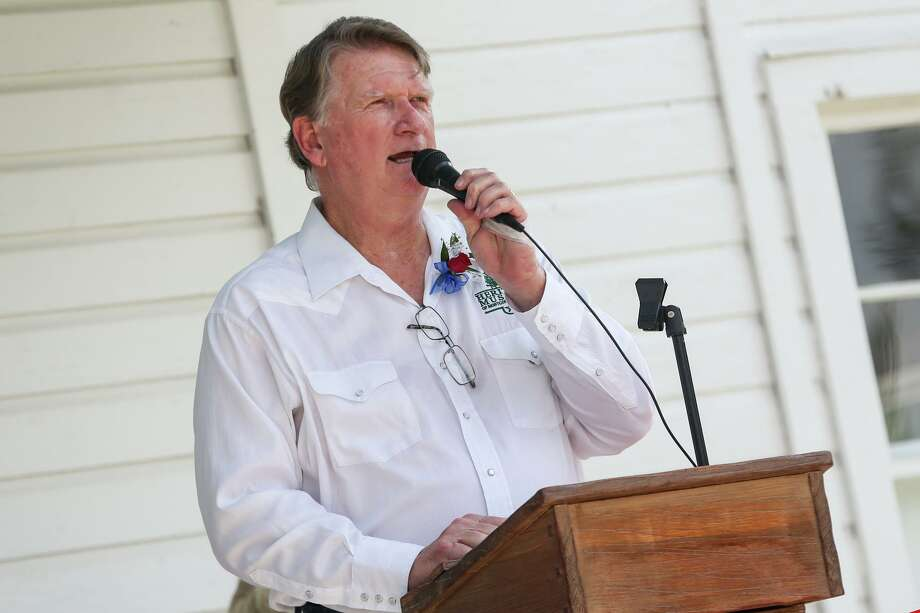 Joe Kolb, Heritage Museum of Montgomery County President, speaks during the grand opening of the Strake-Gray Oilfield House on Friday, June 9, 2017, at the Heritage Museum. Photo: Michael Minasi, Staff Photographer / Houston Chronicle / © 2017 Houston Chronicle