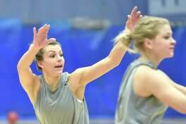 The Southern Conn. State women's basketball team will be led by Kiana Steinauer, the leading rebounder in Division II a season ago. Steinauer averaged 18.4 points and 15.3 rebounds per game and also had 61 assists and 87 steals as a junior.