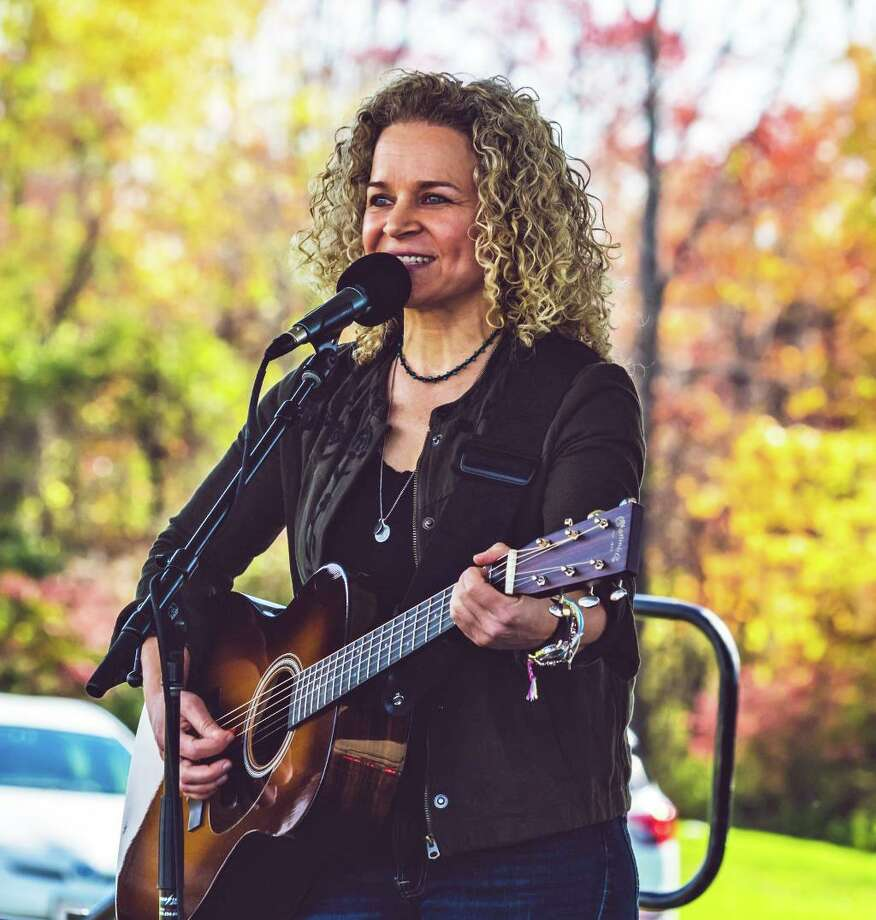 North Guilford musician Lara Herscovitch performs at the Black Bear Americana Festival earlier this month in Goshen. The idea for The Buttonwood Tree's 30-Hour 30th anniversary celebration this weekend originated with her, according to Director Anne-Marie Cannata McEwan. Photo: Frank Piercy Photography