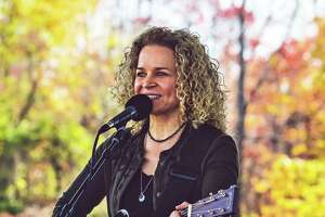 North Guilford musician Lara Herscovitch performs at the Black Bear Americana Festival earlier this month in Goshen. The idea for The Buttonwood Tree's 30-Hour 30th anniversary celebration this weekend originated with her, according to Director Anne-Marie Cannata McEwan.