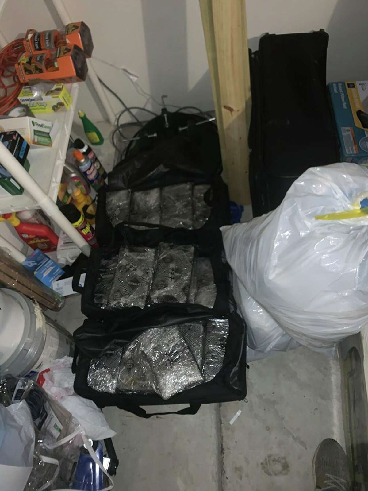 Police found 66 kilos of cocaine, 6 kilos of crystal methamphetamine, 1.1 kilos of fentanyl pills and several guns at the man's home.
