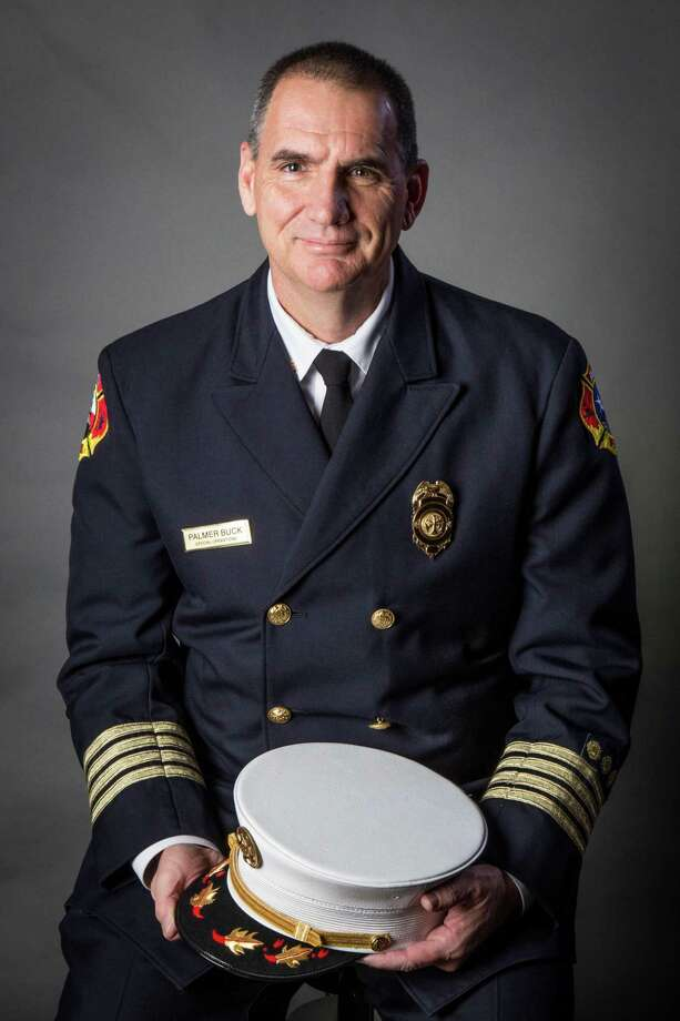 The Woodlands Township announced the hiring of a new fire chief for The Woodlands Fire Department. Palmer Buck, currently a division chief in operations for the Austin (Texas) Fire Department, will replace Alan Benson, who suddenly retired in May with one week's notice. Buck began work on Dec. 2, 2019. Photo: Image Courtesy The Woodlands Township / Image Courtesy The Woodlands Township