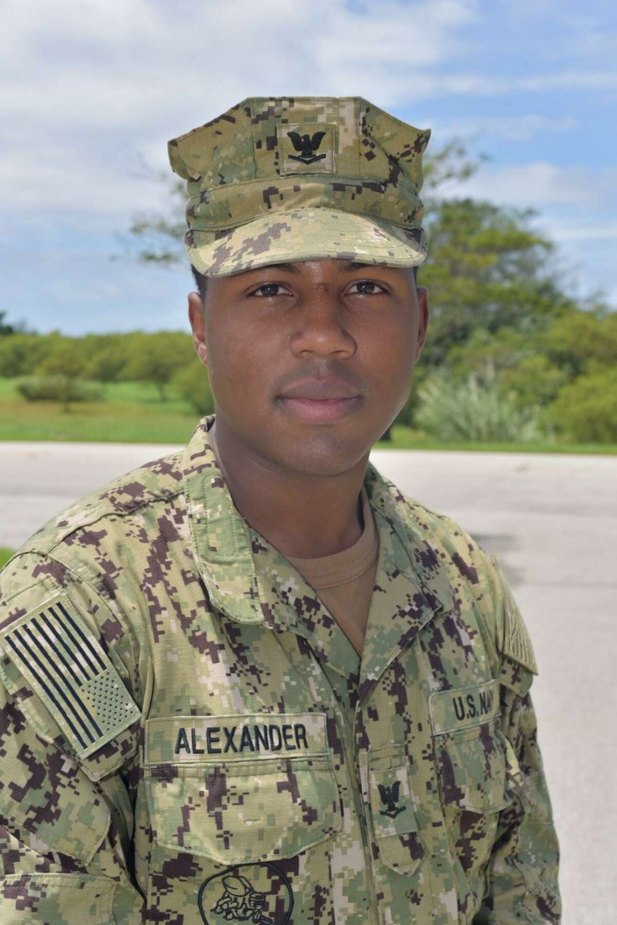 Petty Officer 3rd Class Seandre Alexander - a 2014 graduate of Memorial High School - is a construction electrician with the Naval Mobile Construction Battalion 11, based out of Gulfport, Miss.