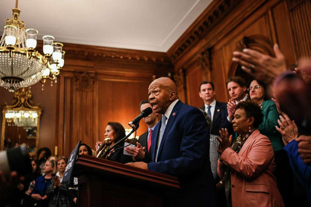 Rep. Elijah E. Cummings, D-Md., speaks during a news conference in Washington, D.C., on Jan. 4, 2019.