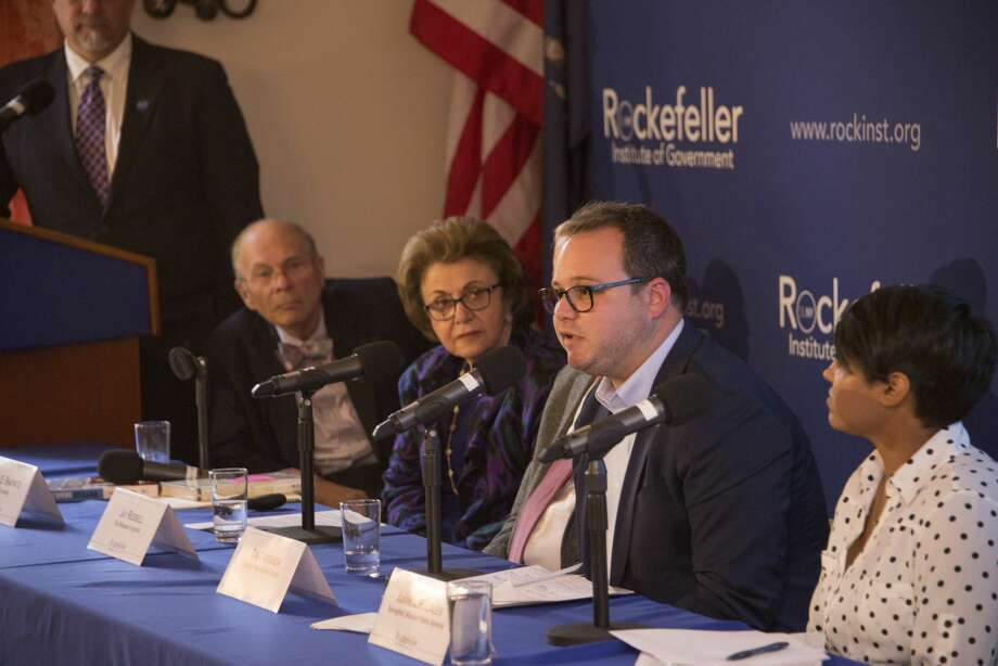 Rockefeller Institute for Government forum on dyslexia on Oct. 16, 2019, includes policymakers, practitioners, and researchers, who make the case for early detection. Photo: Rockefeller Institute