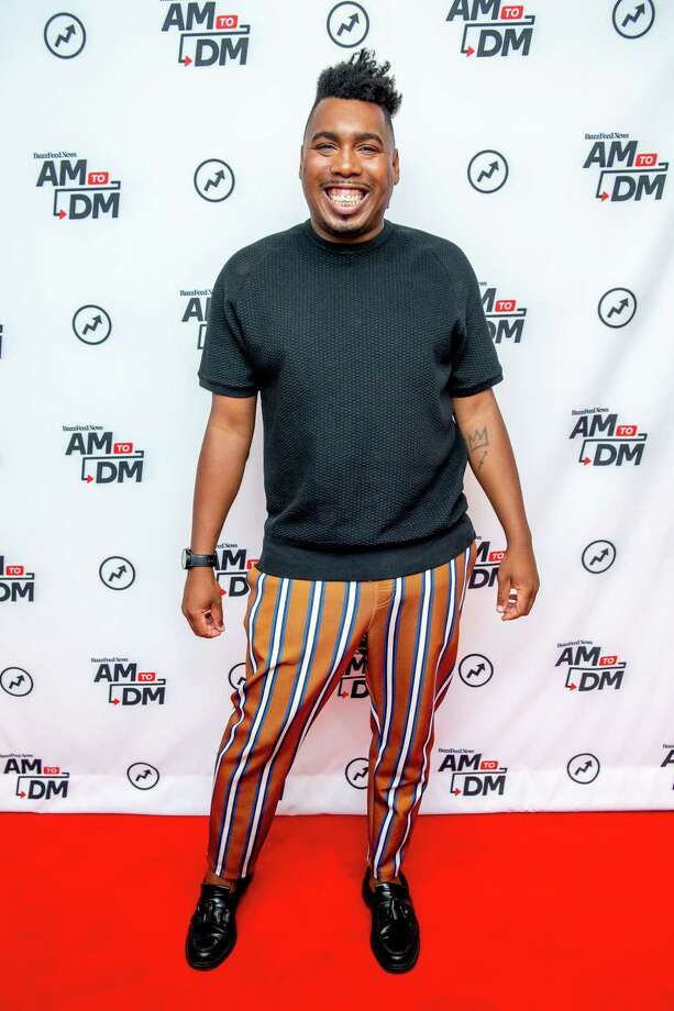 """Former """"AM to DM"""" host Saeed Jones discusses """"How We Fight for Our Lives: A Memoir"""" with BuzzFeed's """"AM To DM"""" on October 08, 2019 in New York City. (Photo by Roy Rochlin/Getty Images) Photo: Roy Rochlin / 2019 Roy Rochlin"""