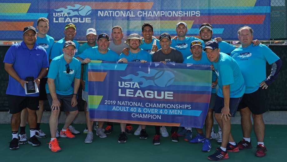 A men's tennis team from The Woodlands captured the national title at the USTA League Adult 40 & Over 4.0 National Championships held last weekend in Surprise, Ariz. Photo: Miguel Saavedra/USTA