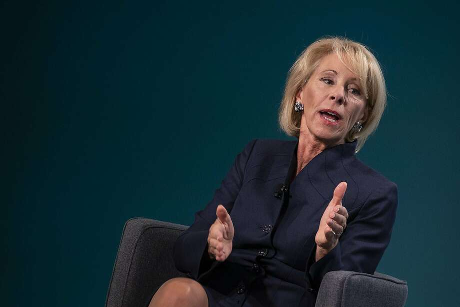 Education Secretary Betsy DeVos' department changed the standard of proof and other important guidelines for complaints of sexual assault and harassment on college campuses. Photo: Alex Edelman / TNS
