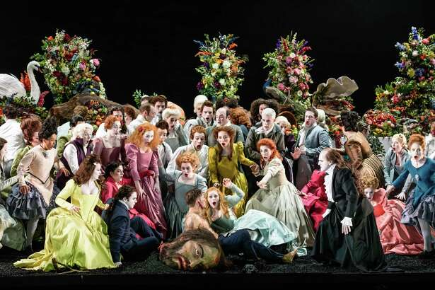 The cast of the opera 'Saul' being staged by Houston Grand Opera