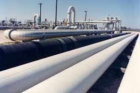 An undated photo provided by the Energy Department shows crude oil pipes at the Bryan Mound site near Freeport, Texas. President Donald Trump's proposal to sell nearly half the U.S. emergency oil stockpile is sparking renewed debate about whether the Strategic Petroleum Reserve is still needed amid an ongoing oil production boom that has seen U.S. imports drop sharply in the past decade. (Department of Energy via AP)