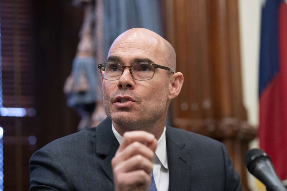Texas House Speaker Dennis Bonnen announces the deployment of up to 1,000 National Guard troops to the Texas border on June 21. A tape was released Tuesday of a conversation between Bonnen and conservative activist Michael Quinn Sullivan. Photo: TNS File Photo