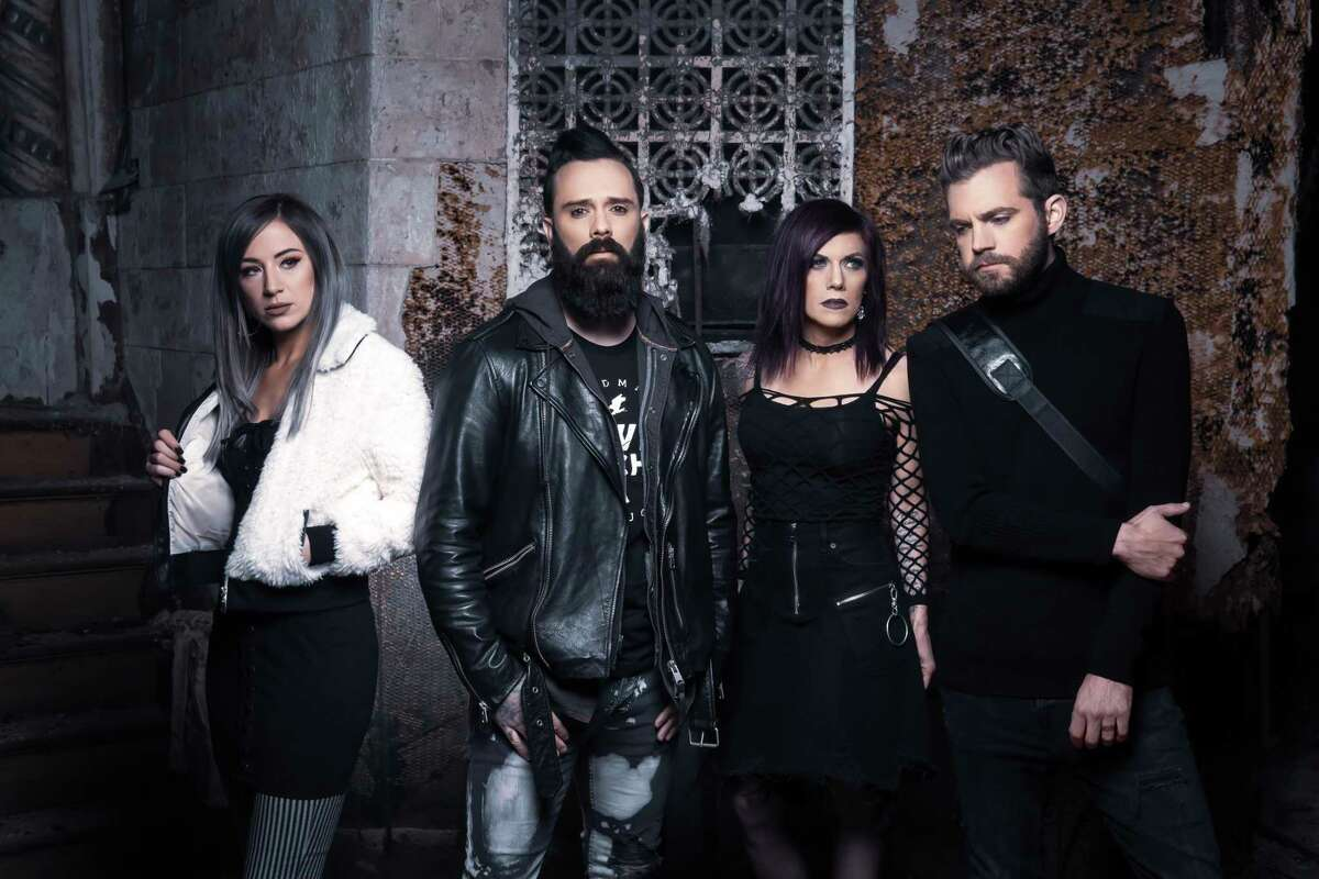 Christian rock band Skillet featuring from left, Jen Ledger, John Cooper, Korey Cooper and Seth Morrison, will perform with Alter Bridge at 7 p.m. Saturday at Vibes Event Center, 1211 E. Houston St.