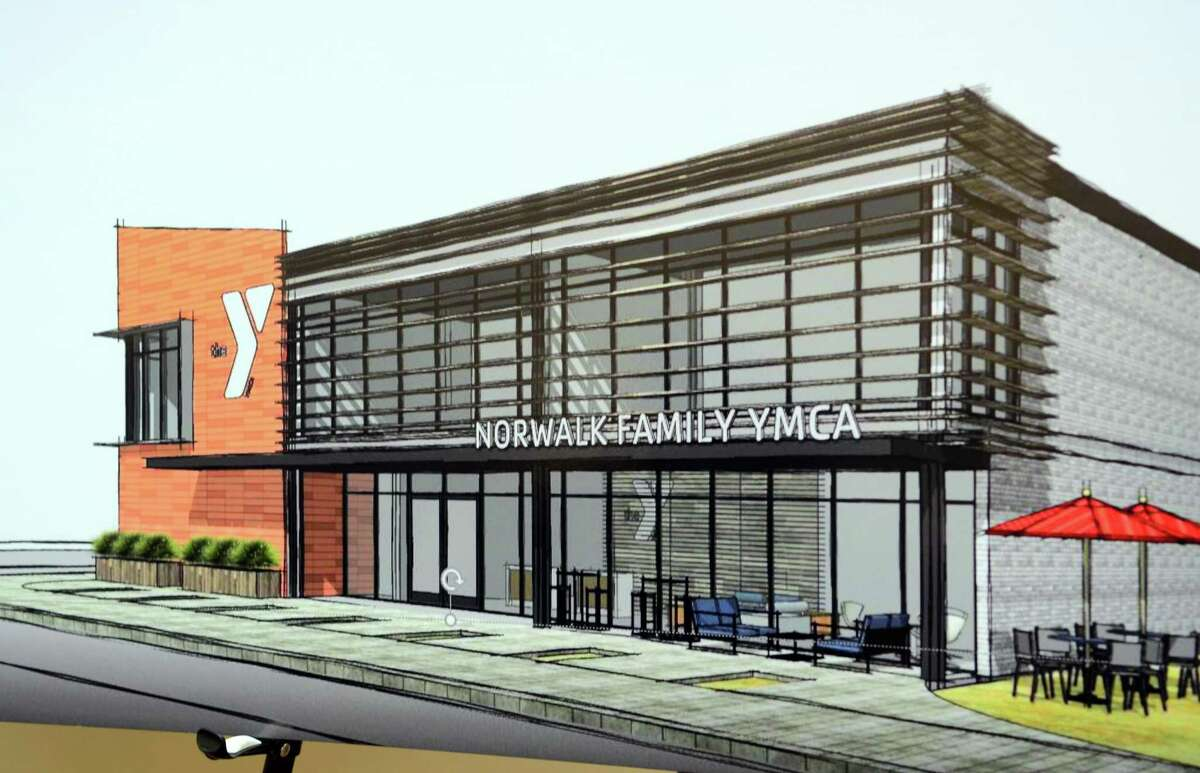 A view of the proposed new state-of-the-art community center to be built during a news conference held by Norwalk Mayor Harry Rilling at the present South Norwalk Community Center on Thursday.