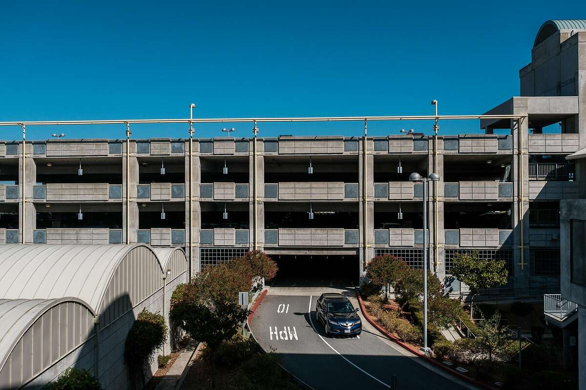 A general view of the BART Millbrae Station parking structure in Millbrae, Calif. on Thursday, October 16, 2019. BART is preparing to launch an ambitious plan which will see much of the transit agency's dedicated parking lots shrunken or eliminated to become sites of high-density housing.
