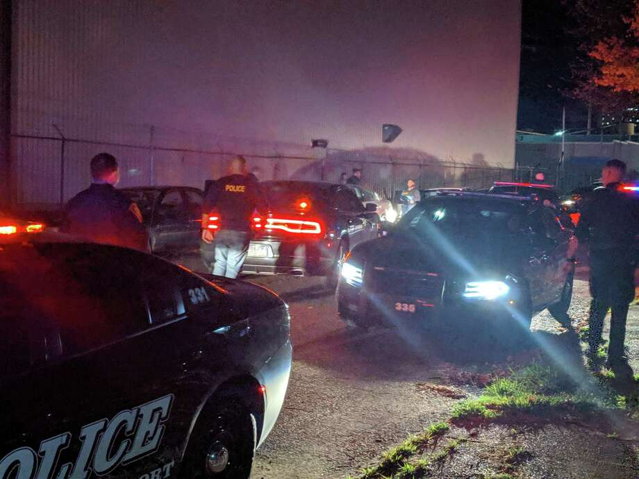 Bridgeport police made arrests and seized a gun after a brief pursuit in the city on Thursday, Oct. 17, 2019. Photo: Contributed Photo