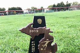 The Bad Axe boys soccer team captured the District 59 boys soccer championship with a win over Saginaw Valley Lutheran in Frankenmuth on Thursday.